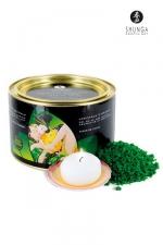 Cristaux de bain Fleur de Lotus - Shunga : Cristaux d'Orient Sel de la Mer Morte aromatisé et moussant, parfumé à la Fleur de Lotus.