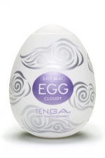 Oeuf Tenga Cloudy - Un masturbateur avec un design doux et moelleux pour une montée du plaisir en douceur.