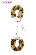 Menottes fourrure Shots - Léopard - Paire de menottes fantaisie qui ferment comme des vraies pour jouer à s'attacher. En métal et fausse fourrure Léopard.