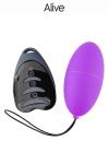 Oeuf vibrant télécommandé Magic egg 3 - violet - Petit oeuf vibrant télécommandé violet, puissant et silencieux  pour se faire plaisir en solo ou en couple, marque Alive.