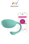 Oeuf vibrant connecté Magic Fugu (vert) - Magic Motion - Stimulateur clitoridien et vaginal connecté, contrôlable depuis le sextoy ou à distance depuis votre smartphone.