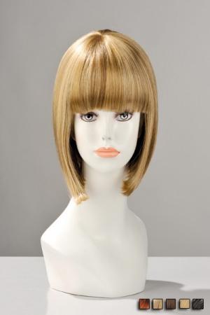 Perruque China Doll - Perruque naturelle : le grand classique du carr� � frange impeccable d�clin� dans plusieurs coloris.
