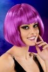 Perruque cheveux courts Violet - Perruque fantaisie avec cheveux courts couleur violet, marque Cabaret Wigs.