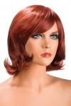 Perruque Victoria rousse - Perruque rousse aux cheveux mi-longs ayants un aspect naturel. Elle à une jolie mèche à l'avant.