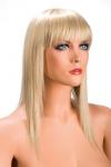 Perruque Allison blonde - Perruque blonde longue et à frange effilée pour changer de look.