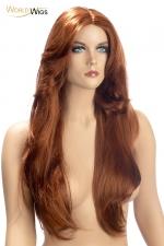 Perruque Rihana rousse - World Wigs - Perruque longue rousse qualité Premium, avec des cheveux longs et brillants pour un look flamboyant et séducteur.