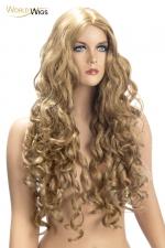 Perruque Angèle blonde - World Wigs - Perruque longue blonde qualité Premium, avec des cheveux longs et ondulés pour un look lumineux et naturel.