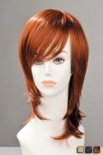 Perruque Zoe : Une coupe jeune et moderne pleine de style avec cette perruque mi-longue effilée, à mèche sur le coté.