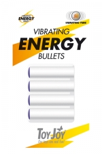 Vibrating Energy Bullets - 4 balles vibrants de rechange pour  vos sextoys ToyJoy.
