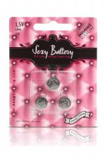 Sexy battery - Piles LR44 x3 : 3 piles Sexy Battery de type LR44 au lithium pour faire fonctionner vos sextoys.