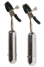 Pinces à seins sans fil - Pinces à seins  clip  vibrantes et sans fil.