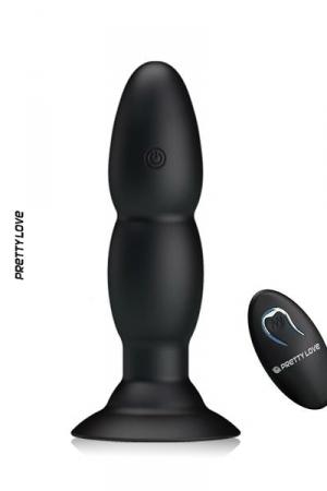 Plug anal Pretty Love Beaded - le top du sextoy anal: un plug anal vibrant télécommandé avec ventouse de maintien à sa base.