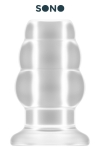 Plug anal creux taille L - SONO - Plug anal translucide grande taille, creux au milieu, 12,7 cm de long par 7,1 cm de diamètre maxi.