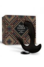 Stimulateur anal vibrant télécommandé unisexe - Black Jamba - Plug anal et stimulateur de point G et clitoris vibrant, chauffant, télécommandé et rechargeable, par Feelztoys.