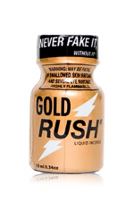 Poppers Gold Rush 10 ml - A base de nitrite de Pentyle, c'est le poppers le plus fort du marché (flacon de 10ml).