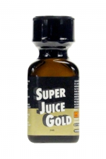 Poppers Super Juice gold 24ml - Le poppers Super Juice gold est un arôme puissant et fort à base de nitrite de Pentyle, en grand flacon de 24 ml.