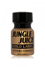 Poppers jungle juice gold label 10ml - Poppers Jungle Juice à base d'Amyle, en version gold extrême en raison de l'intensité et de la pureté de sa formule.