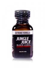 Poppers jungle juice black label 24ml - Le poppers Jungle Juice black original dans une nouvelle formule extrême, extra forte, à base de nitrite d'amyle.