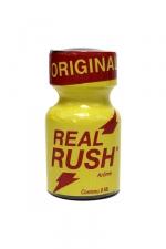 Poppers Real rush original 9 ml : Arôme Original Real Rush au nitrite de pentyle, en flacon de 9 ml.