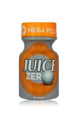 Poppers Juice zero 9 ml - Poppers hybride pour des sensations max et confort accru avec fermeture  Mega Pellet, en petit flacon de 9 ml.