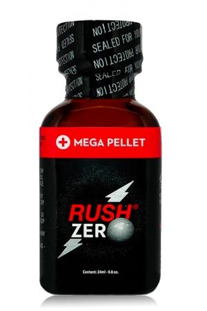 Poppers Rush  zero 24 ml : Poppers hybride Pentyle + propyle (24ml), des sensations hyper puissantes et fermeture type