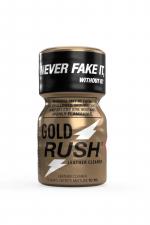 Poppers Gold Rush 10 ml : A base de nitrite d'Amyle, c'est le poppers le plus fort du marché (flacon de 10 ml).