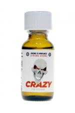 Poppers Crazy Amyl 25ml - Le Poppers Crazy Amyl est un arôme aphrodisiaque au Nitrite d'Amyle, offrant des sensation ultra fortes (flacon de 25 ml).