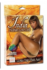 India Nubian Love Doll - Superbe poupée noire à honorer par tous les orifices.