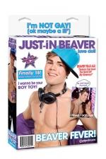 Poupée Just-In Beaver - Poupée gonflable bi-sexuelle à l'effigie de la célèbre star.