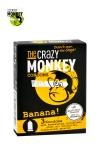 3 Préservatifs Crazy Monkey Banane - 3 préservatifs jaunes, arôme banane, cylindriques, lisses et lubrifiés, par Crazy Monkey.