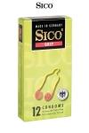12 préservatifs Sico GRIP - Boite de 12 préservatifs transparents, lubrifiés, avec anneau renforcé et serré à la base pour un meilleur ajustement.