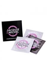Pochette de 3 préservatifs Jacquie et Michel - Boite de 3 préservatifs naturels Jacquie & Michel, pour se faire plaisir sans risque.