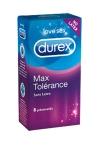 8 préservatifs Durex Max Tolérance - Le préservatif Durex sans latex!