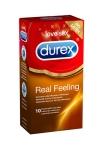 10 préservatifs Durex Real Feeling - Préservatifs procurant des sensations naturelles peau contre peau, sans latex.