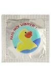 Préservatif humour - Fais Moi Vibrer - Préservatif Fais Moi Vibrer, un préservatif personnalisé humoristique de qualité, fabriqué en France, marque Callvin.