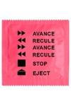 Préservatif humour - Avance Recule - Préservatif