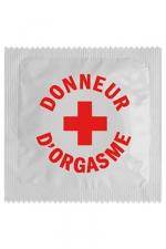 Préservatif humour - Donneur D'orgasme - Préservatif  Donneur D'orgasme , un préservatif personnalisé humoristique de qualité, fabriqué en France, marque Callvin.