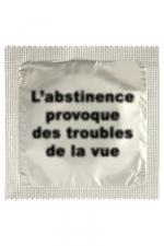 Préservatif humour - Abstinence - Préservatif  Abstinence , un préservatif personnalisé humoristique de qualité, fabriqué en France, marque Callvin.