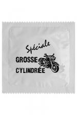 Préservatif humour - Grosse Cylindrée - Préservatif Grosse Cylindrée, un préservatif personnalisé humoristique de qualité, fabriqué en France, marque Callvin.