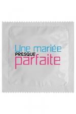 Préservatif humour - Une Mariée Presque Parfaite - Préservatif Une Mariée Presque Parfaite, un préservatif personnalisé humoristique de qualité, fabriqué en France, marque Callvin.