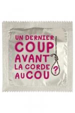 Préservatif humour - Un Dernier Coup - Préservatif Un Dernier Coup, un préservatif personnalisé humoristique de qualité, fabriqué en France, marque Callvin.