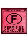 Préservatif humour - Permis De Conclure - Préservatif