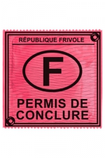 Préservatif humour - Permis De Conclure : Préservatif Permis De Conclure, un préservatif personnalisé humoristique de qualité, fabriqué en France, marque Callvin.