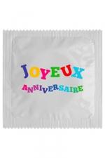 Préservatif humour - Joyeux Anniversaire - Préservatif  Joyeux Anniversaire , un préservatif personnalisé humoristique de qualité, fabriqué en France, marque Callvin.