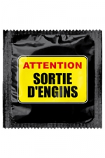 Préservatif humour - Attention Sortie D'engins