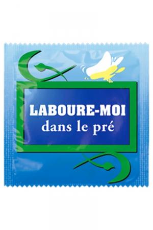 Préservatif humour - Laboure Moi Dans Le Pré - Préservatif