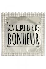 Préservatif humour - Distributeur De Bonheur - Préservatif Distributeur De Bonheur, un préservatif personnalisé humoristique de qualité, fabriqué en France, marque Callvin.