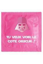 Préservatif humour - Tu Veux Voir Le Coté Obscur - Préservatif Tu Veux Voir Le Coté Obscur, un préservatif personnalisé humoristique de qualité, fabriqué en France, marque Callvin.
