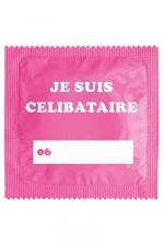 Préservatif humour - Je Suis Célibataire Rose - Préservatif Je Suis Célibataire Rose, un préservatif personnalisé humoristique de qualité, fabriqué en France, marque Callvin.