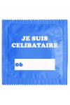Préservatif humour - Je Suis Célibataire Bleu - Préservatif